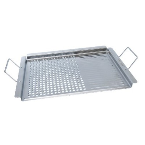 Man Law - BBQ Grill Topper - Stainless-Steel