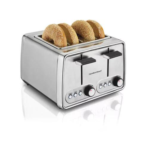 Recertified Hamilton Beach R24781 Modern Chrome 4 Slice Toaster
