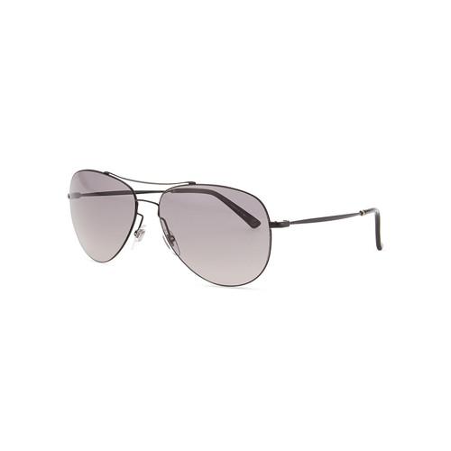 GUCCI Shiny Metal Aviator Sunglasses, Black