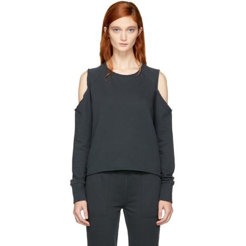 RAG & BONE Black Standard Issue Slash Sweatshirt