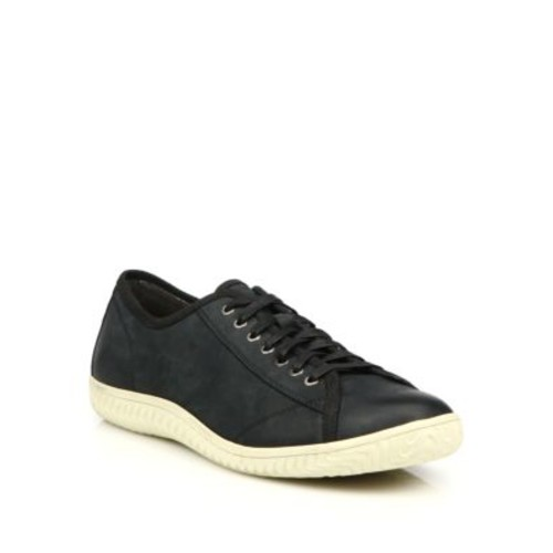 Hattan Nubuck Leather Low-Top Sneakers