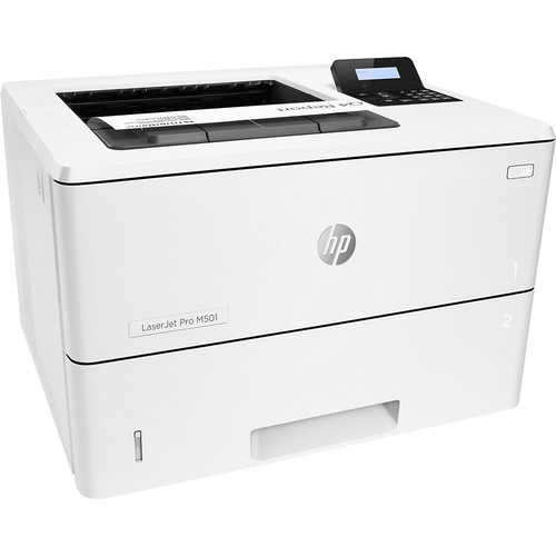 HP - LaserJet Pro M501dn Black-and-White Laser Printer - White