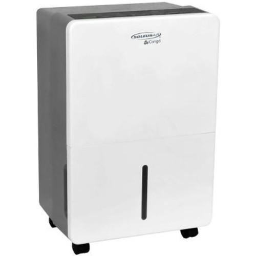 SoleusAir 70-Pint Portable Dehumidifier in White/Gray