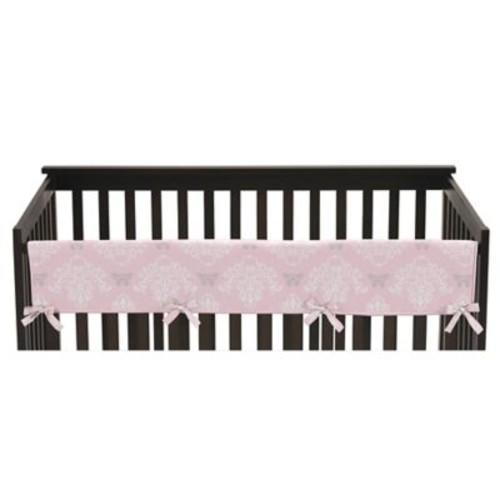 Sweet Jojo Designs Alexa Reversible Long Front Rail Crib Guard Cover in Pink/Grey