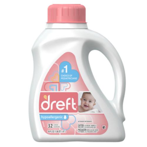 Dreft Liquid Laundry Detergent, 32 Loads, 50 fl oz