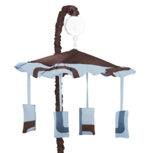 Sweet Jojo Designs Geo Musical Mobile in Blue/Brown