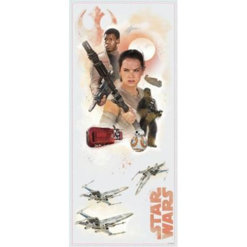 RoomMates 5 in. W x 19 in. H Star Wars EP VII Hero Burst 4-Piece Peel and Stick Giant Wall Decal