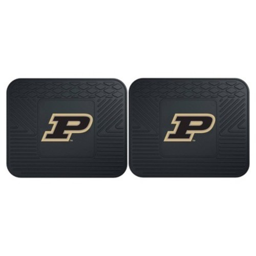 Fanmats 12269 Purdue University Boilermakers Rear Second Row Vinyl Heavy Duty Utility Mat, (Pack of 2)