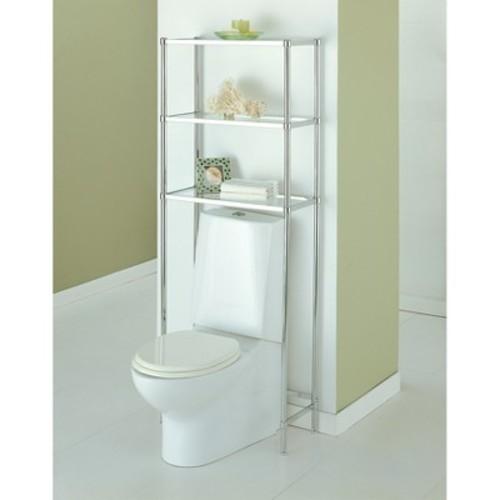 Neu Home Bathroom Spacesaver 3-Tier Shelf Unit - Chrome