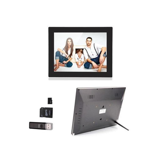 15 inch TFT Digital Photo family Frame With Remote Control Black + 2GB TF Card