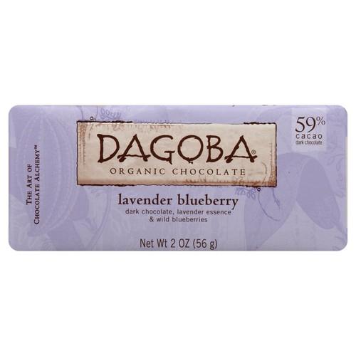 Dagoba Lavender (59%) Lavender, Blueberries Bar, 2.0-Ounces Bars (Pack of 12)