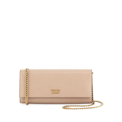 PRADA Bibliotheque Saffiano Shoulder Bag