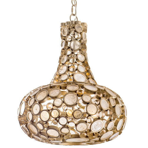Varaluz Fascination 3-Light Zen Gold Carafe Pendant