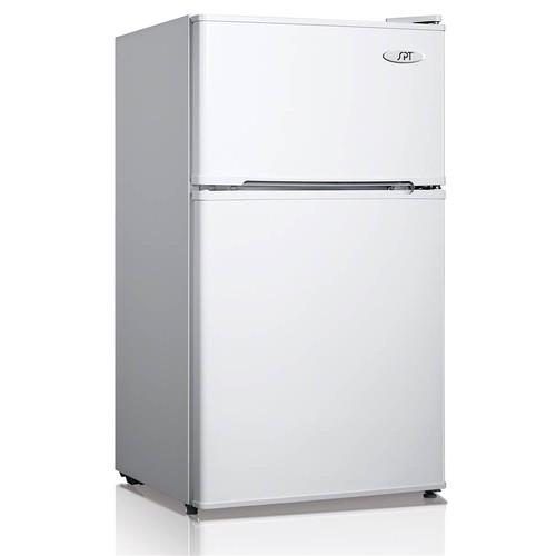 SPT 3.1 cu.ft. Double Door Refrigerator in White - Energy Star