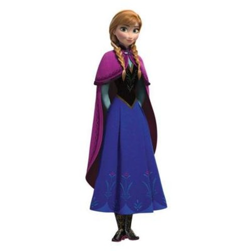 Peel & Stick Giant Wall Decals - Frozen's Anna with Cape