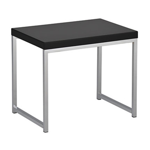 Ave Six Wall Street Table, End, Rectangular, Black/Chrome