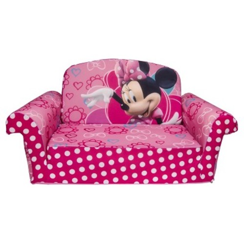 Marshmallow Furniture Children's 2 in 1 Flip Open Foam Sofa - Disney Minnie's Bow-tique by Spin Master