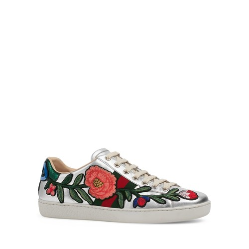 GUCCI Ace Low Top Lace Up Sneakers