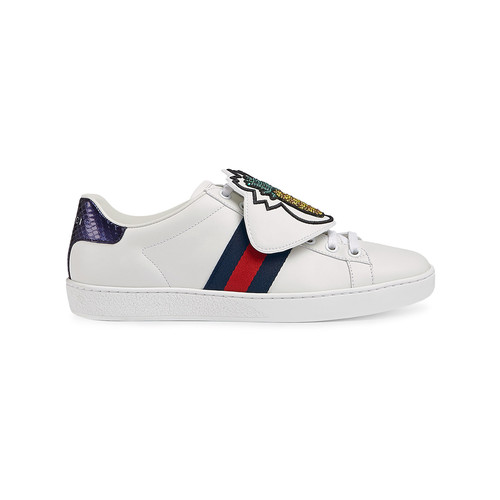 White Ace sneakers with removable patches