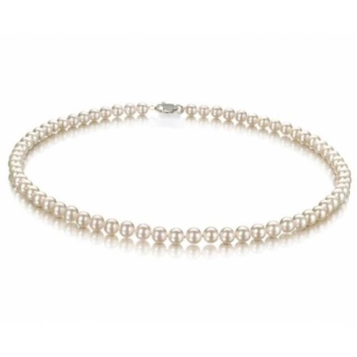 Bling Jewelry Freshwater Cultured White Pearl Classic Bridal Choker Sterling Silver Necklace [16.0 millimeters]
