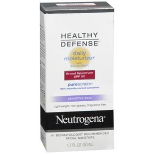 Neutrogena Healthy Defense Daily Moisturizer with Sunscreen SPF 50 Sensitive Skin, 1.7 OZ