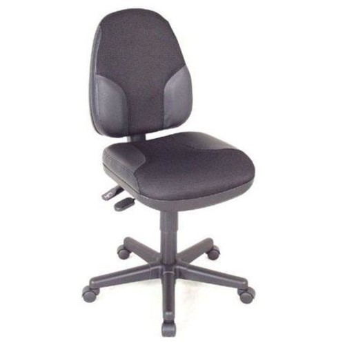 Alvin Monarch High Back Office Height Chair, Black with Leather Highlights CH555-95