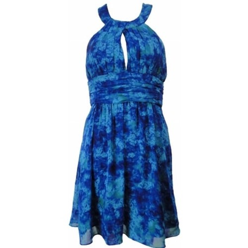 Nine West Women's It's Electric Multi Blue Dress - pool combo - 8