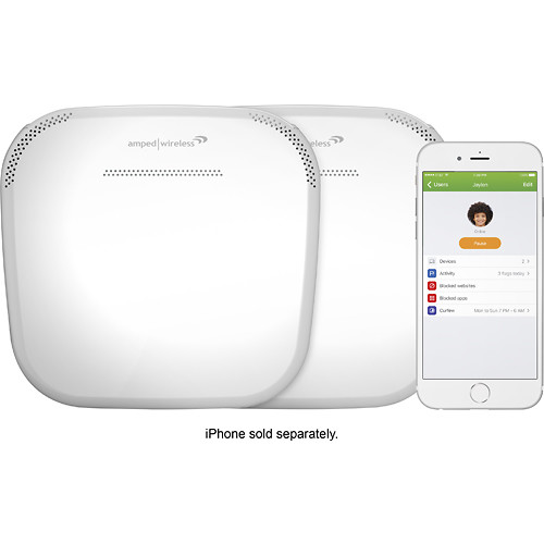 Amped Wireless - ALLY Plus AC1900 Dual-Band Whole Home Wi-Fi System (set of 2) - White