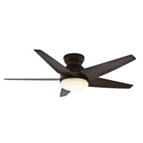 Casablanca Isotope 52 in. Indoor Brushed Cocoa Bronze Ceiling Fan with 4 Speed Wall Mount Remote