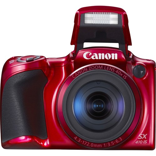 Canon PowerShot SX410 IS (Red) 20-megapixel camera with 40X optical zoom