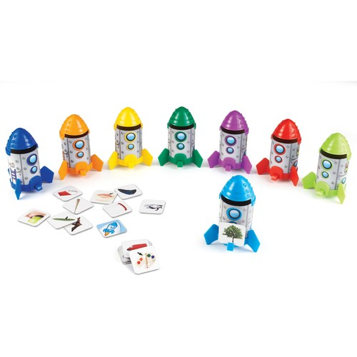 Learning Resources Rhyme & Sort Rockets, 88 Pieces