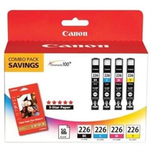Canon 4546B007 CLI-226 Ink Cartridge Black Cyan Magenta Yellow