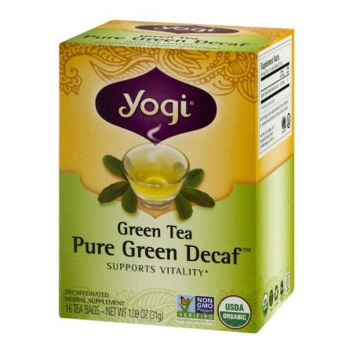 Yogi Green Tea Pure Green Decaf - 16 CT