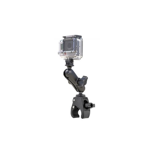 Ram Mounts Small Tough-Claw Mount w/ Custom GoPro Hero Adapter RAP-B-400-GOP1U, Weight: 0.6, Color: Black, Attachment/Mount Type: Rail/Round Bar,