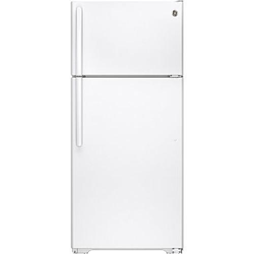 GE 15.5 cu. ft. Top Freezer Refrigerator in White