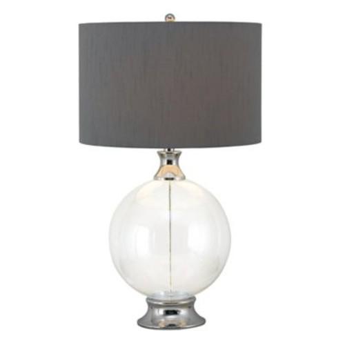 Kenroy Home Celestial Table Lamp in Glass/Chrome