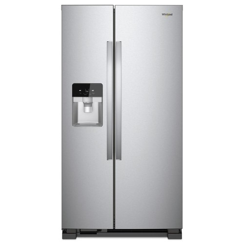 Whirlpool 36 in. W 24.55 cu. ft. Side by Side Refrigerator in Fingerprint Resistant Stainless Steel