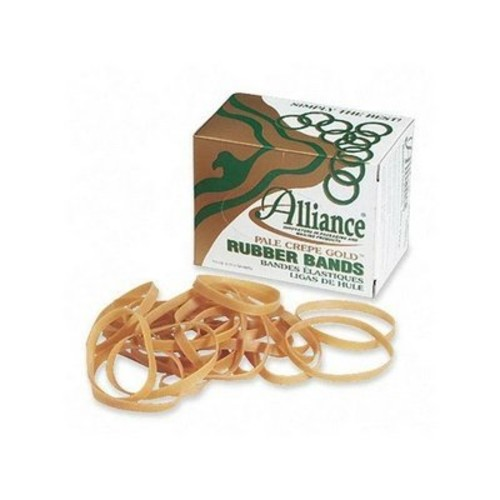 Alliance Rubber 20645 Pale Crepe Gold Rubber Bands Size #64, 1 lb Box Contains Approx. 490 Bands