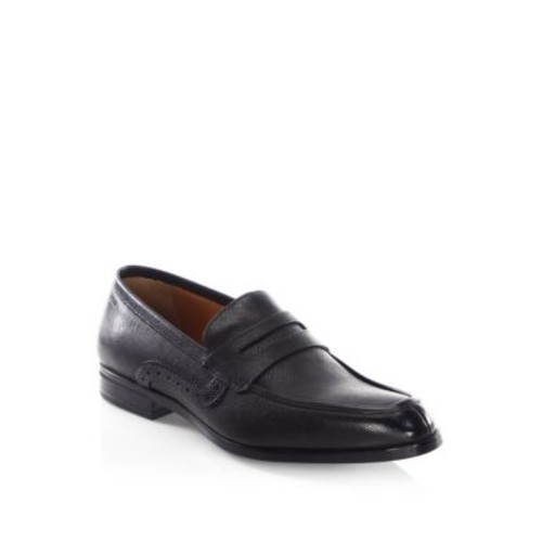 Lauto Saffiano Leather Penny Loafers