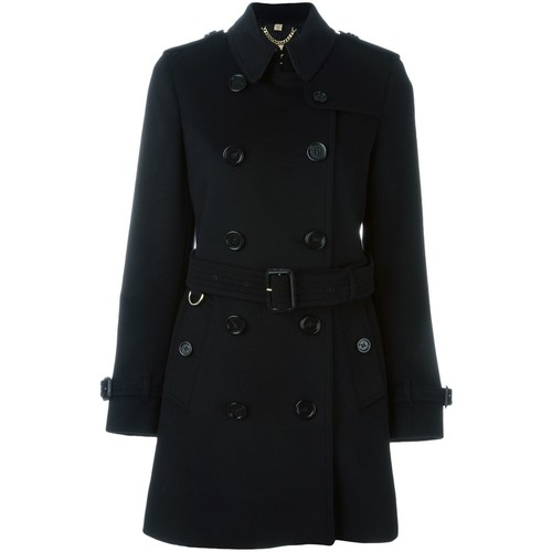 BURBERRY 'Kensington' Double Breasted Coat