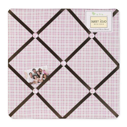 Sweet JoJo Designs Pink and Chocolate Teddy Bear Bulletin Board