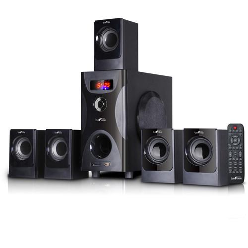 Befree Sound 97095500M 5.1 Channel Surround Sound Bluetooth Speaker System in Black