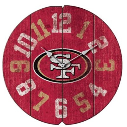 Imperial NFL 16'' Vintage Wall Clock; San Francisco 49ers