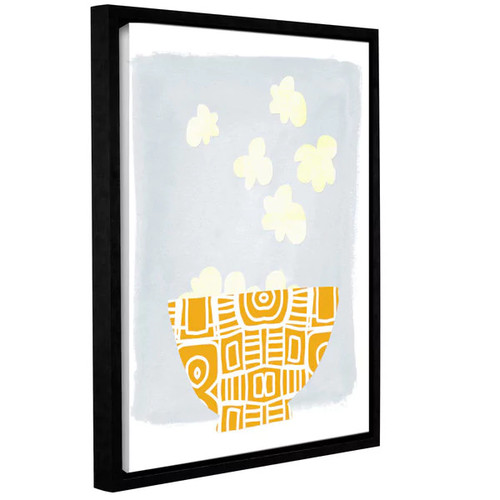 Linda Woods's 'Bowl of Popcorn' Gallery Wrapped Floater-framed Canvas [option : 8x10 - Price in Cart]