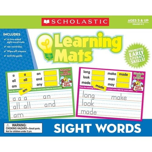 SCHOLASTIC TEACHING RESOURCES Games & Puzzles Sight Words Learning Mats
