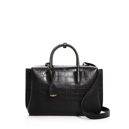 MCM Milla Medium Embossed Leather Tote