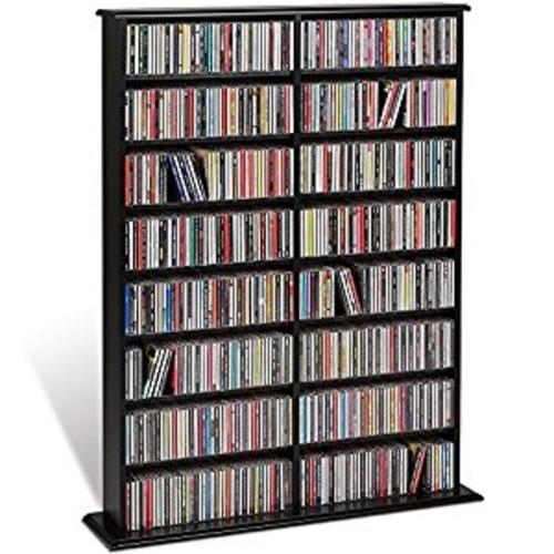 Prepac Double Width Wall Storage Cabinet, Black [Black, Double Width Wall ]