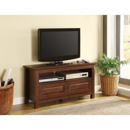 Walker Edison 44 inches Cortez TV Stand Console, Brown [Brown]