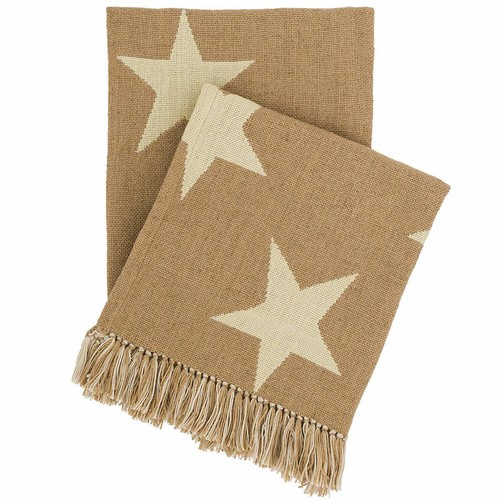 Star Camel\/Ivory Indoor\/Outdoor Throw design by Fresh American - 50\