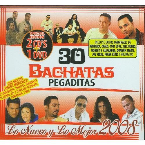 30 Bachatas Pegaditas: Lo Nuevo y lo Mejor 2008 [2CD/1DVD] [CD & DVD]